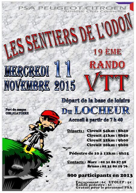 [Mercredi 11 novembre 2015] Les sentiers de l'Odon (19ème édition) à Le Locheur,  Affiche_2015